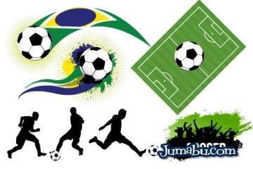 vectores futbol brasil 2014 - Vectores Fútbol Brasil 2014