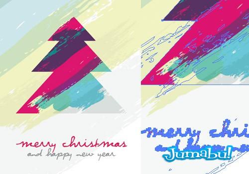 vectores-navidad-pino-artistico