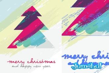 vectores navidad pino artistico - Pino Navideño Artístico Dibujado a Mano