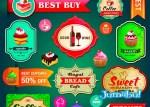 vectores restaurant vintage colorido retro - Recursos en Vectores para Trabajar en la Identidad de un Restaurante
