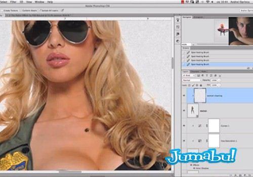 video tutorial - Excelente Tutorial de Photoshop Mujer Policía