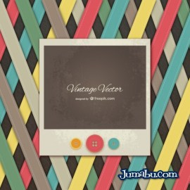 vintage photo banner - Vintage Polaroid en Vectores