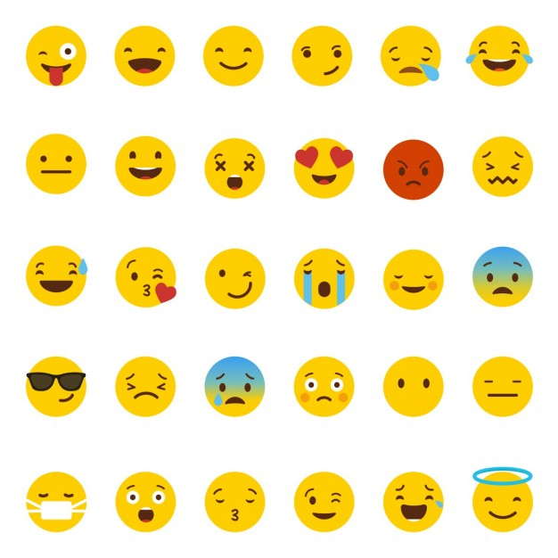Emoticones de Whatsapp en vectores para descargar