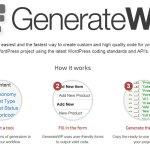 wp generator - Cómo programar con Wordpress fácil