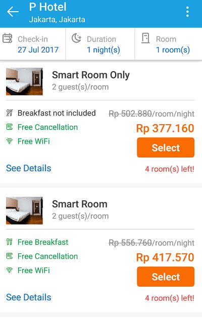 pesan hotel lewat traveloka
