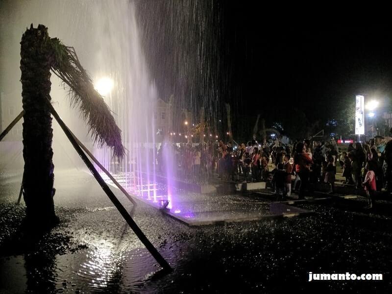 foto air mancur taman gajah lampung