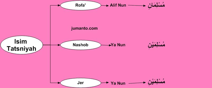 Pengertian Isim Tatsniyah dalam bahasa arab berikut Contoh dan Cara Membuat Mutsanna