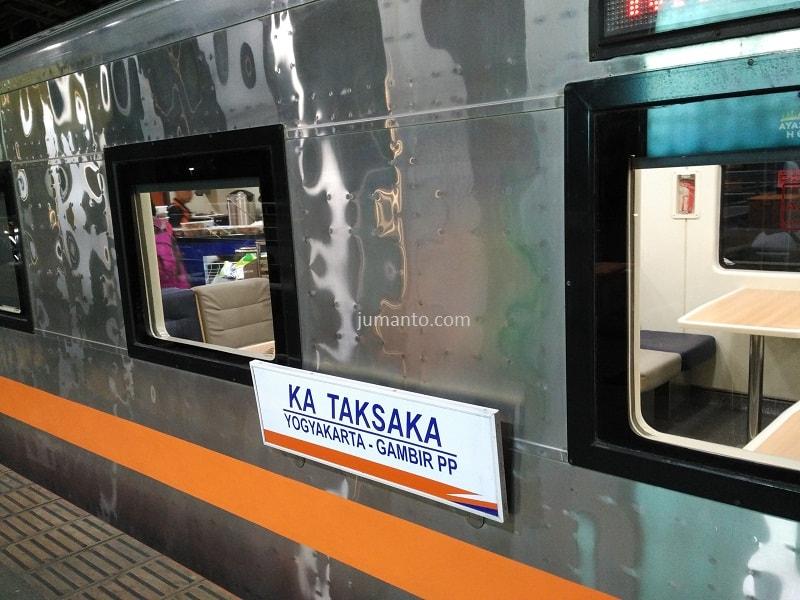 gambar kereta api taksaka Jakarta Jogja, pengalaman pribadi