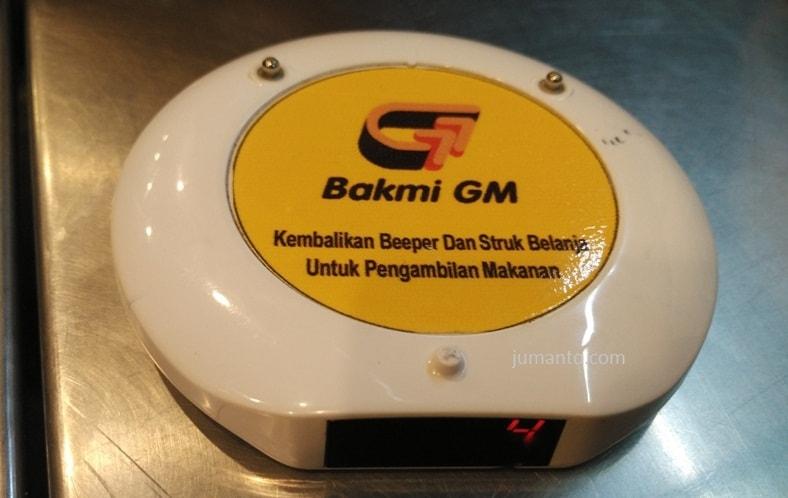 tanda pemesanan makanan bakmie gm