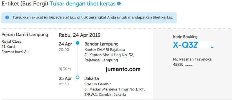 Pengalaman Cara Memesan Tiket Bus Damri Di Traveloka