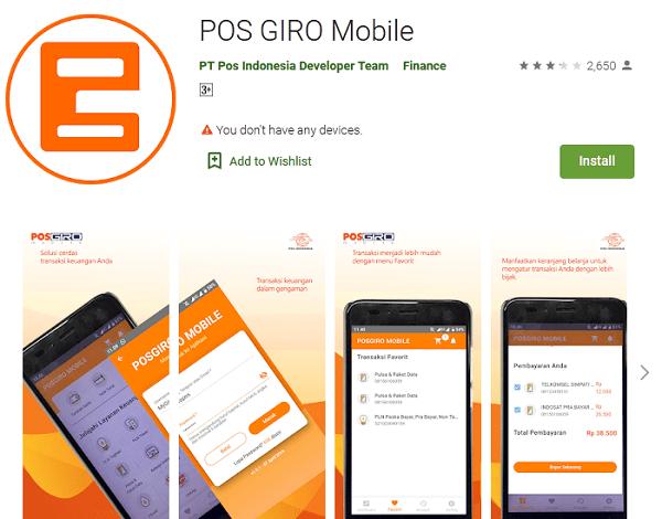 aplikasi pos giro mobile untuk tracking status pengiriman paket pos