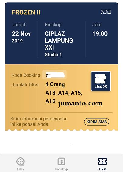 tiket tix id terbit dan siap ditukarkan di bioskop