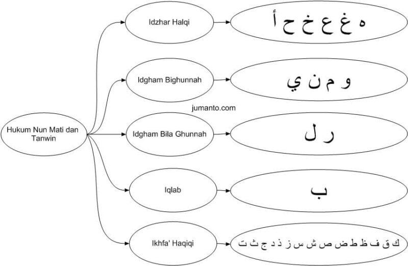 gambar skema hukum nun mati dan tanwin ketemu huruf hijaiyah