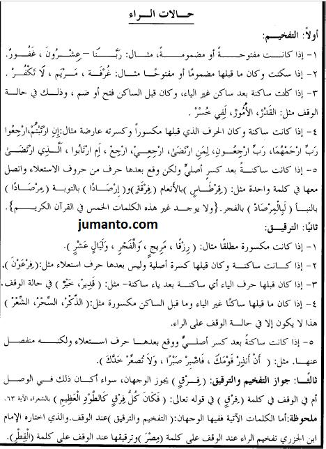 hukum bacaan tafkhim dan tarqiq pada huruf ro'