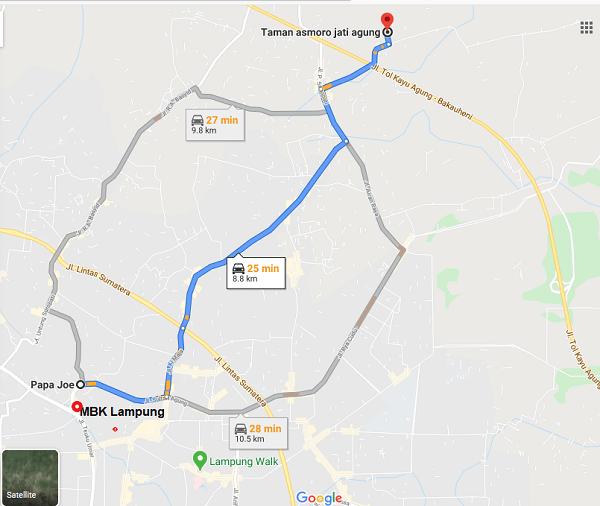 rute menuju taman asmoro jati agung sidomulyo