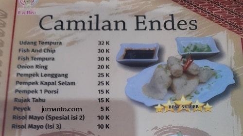 daftar harga dan menu larise cafe lampung 5