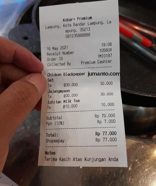 Harga Makanan Korea Di Kobar Premium Bandar Lampung