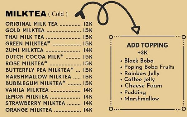 daftar menu minuman diamond cafe lampung