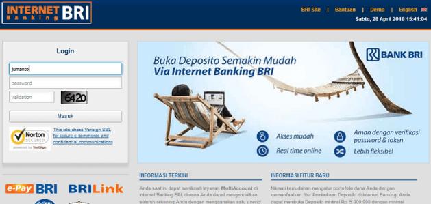 cara beli token listrik lewat internet banking BRI