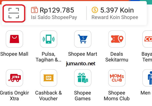 bayar merchant yang kerja sama dengan shopeepay
