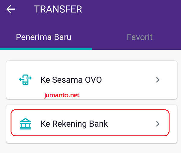 cara bayar shopee pakai OVO via transfer bank