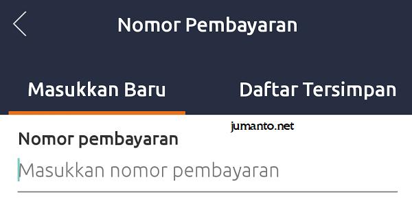 masukkan nomor pembayaran baru saat bayar bpjs via brimo