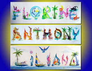 Name Painting Art Paint Votre Prenom Su Nombre En Arte