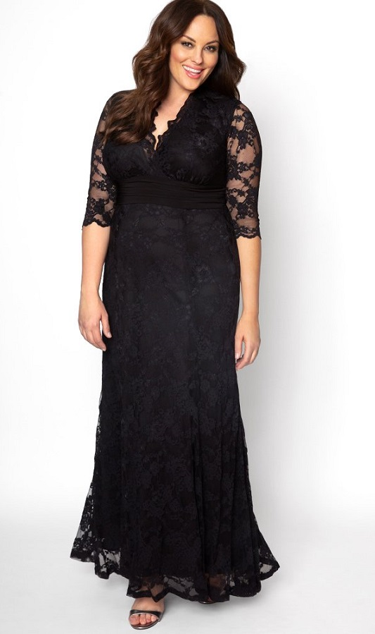 Plus Size Black Maxi Dresses With Sleeves - Classic Styles ...