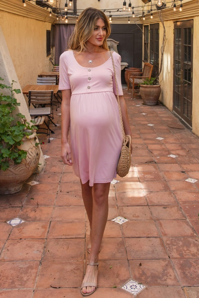 Pink Maternity Dresses For Baby Shower Style The Bump Pink Baby Shower Dresses