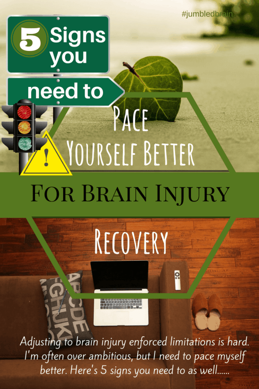 Learning to pace myself after a brain injury.