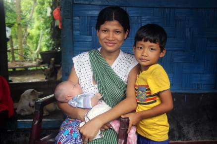 Khasi woman and her childs