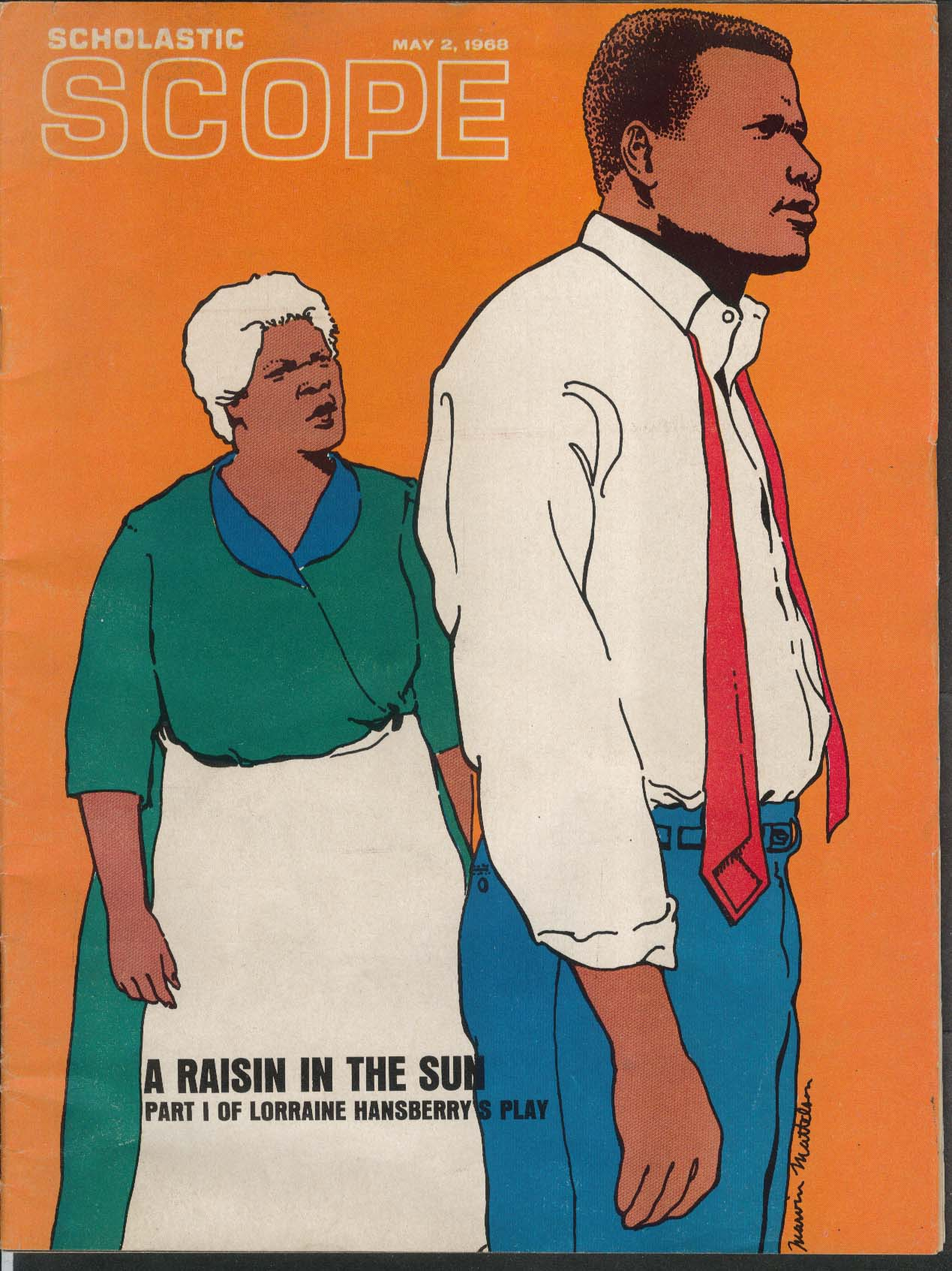 Scholastic Scope Raisin In The Sun Lorraine Hansberry 5 2