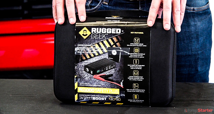 Rugged Geek RG1000 Safety Plus 1000A Portable Car Jump Battery Pack
