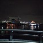 横浜のライトアップされた景色