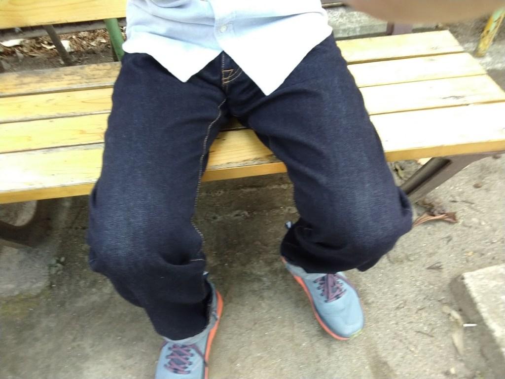 自作のジーンズを履いてみた