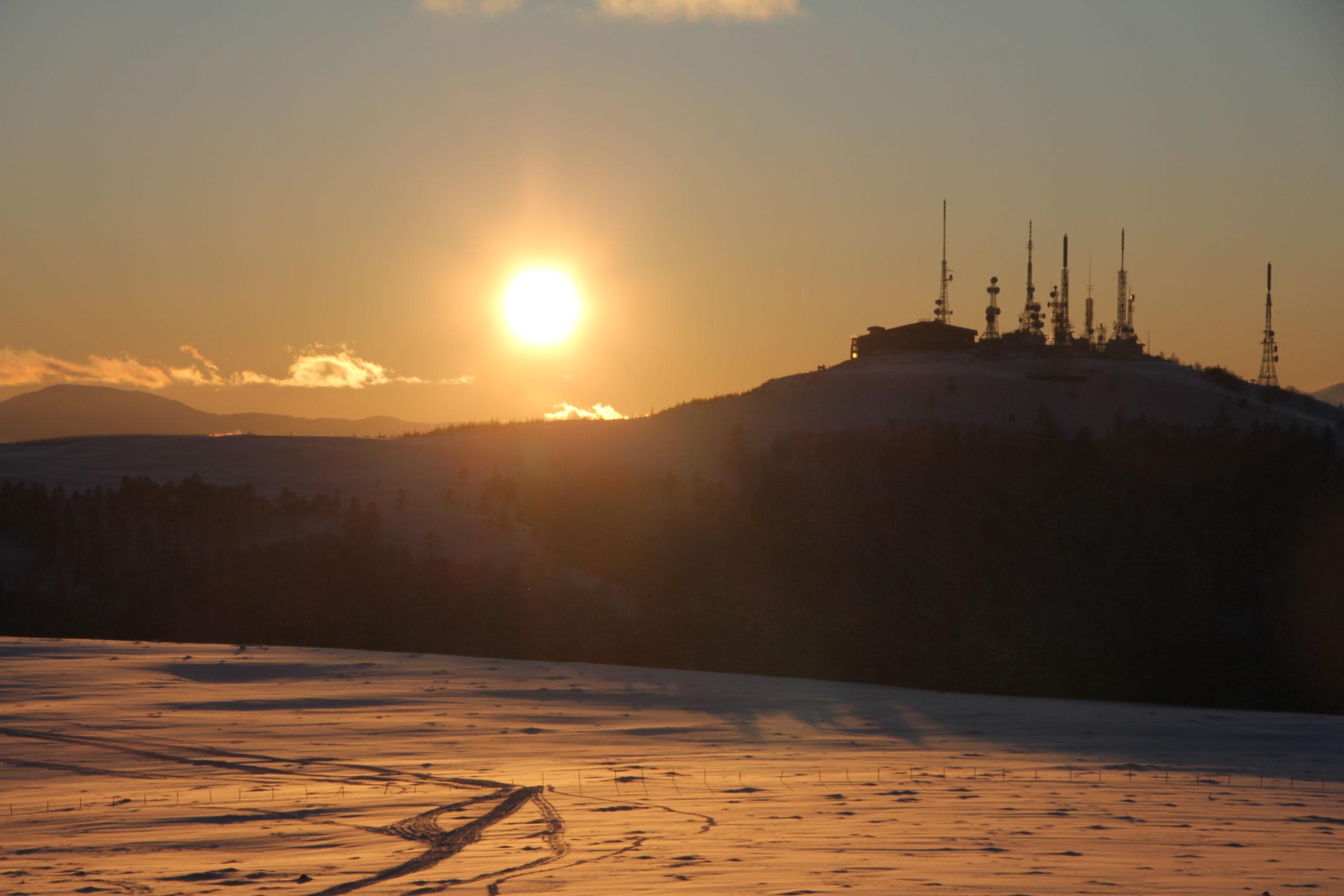 美ヶ原高原の夕陽