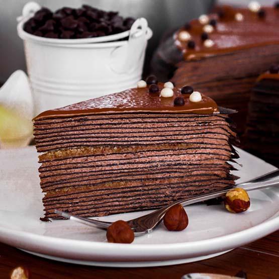 Chocolate Crepe Cake Lady M