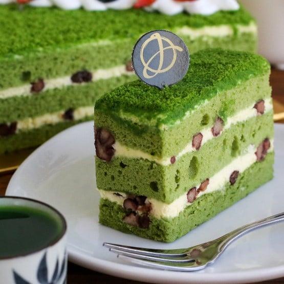 Green Tea Sponge Birthday Cake
