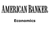 American Banker: Principles of Economics