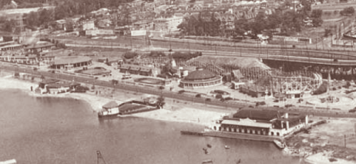 Aerial of Sunnyside Amusement Park 1926