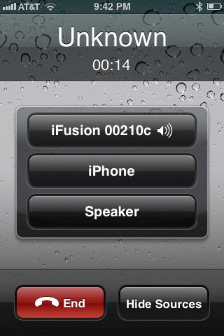 iFusion audio stream