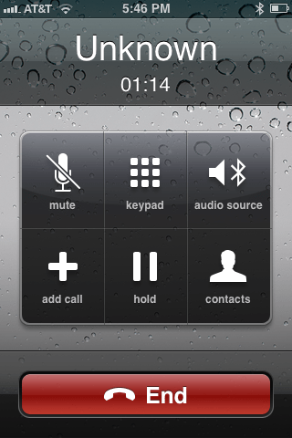 iFusion non VoIP call