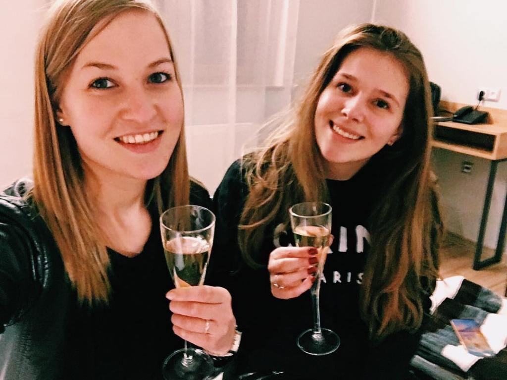 we got champagne