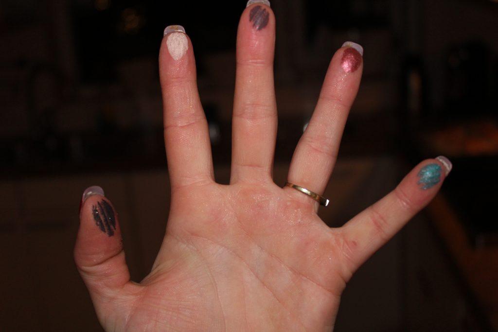 vingers onderste 5 kleuren