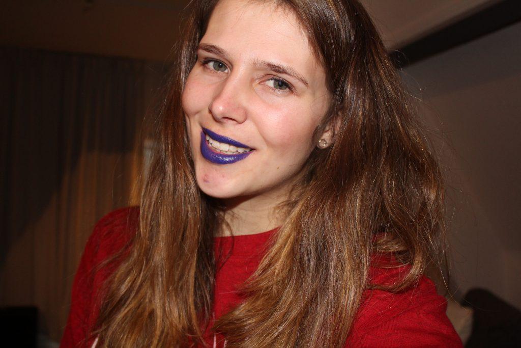 paarse lipstick