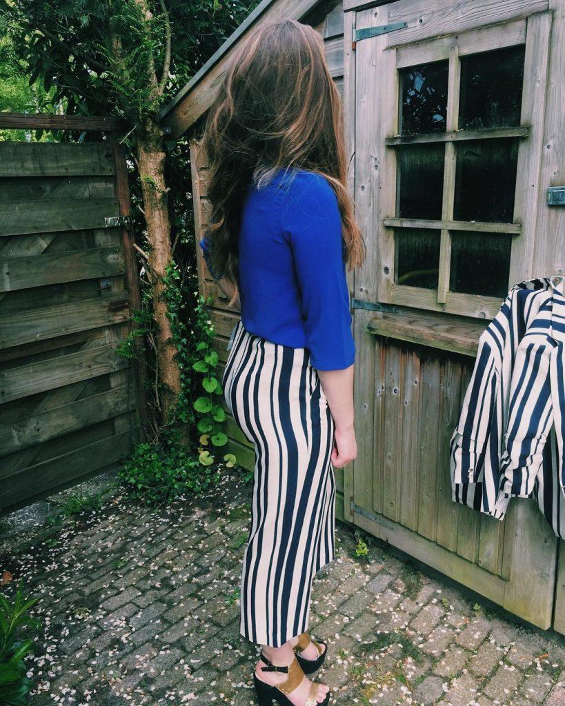 streepjes + blauw