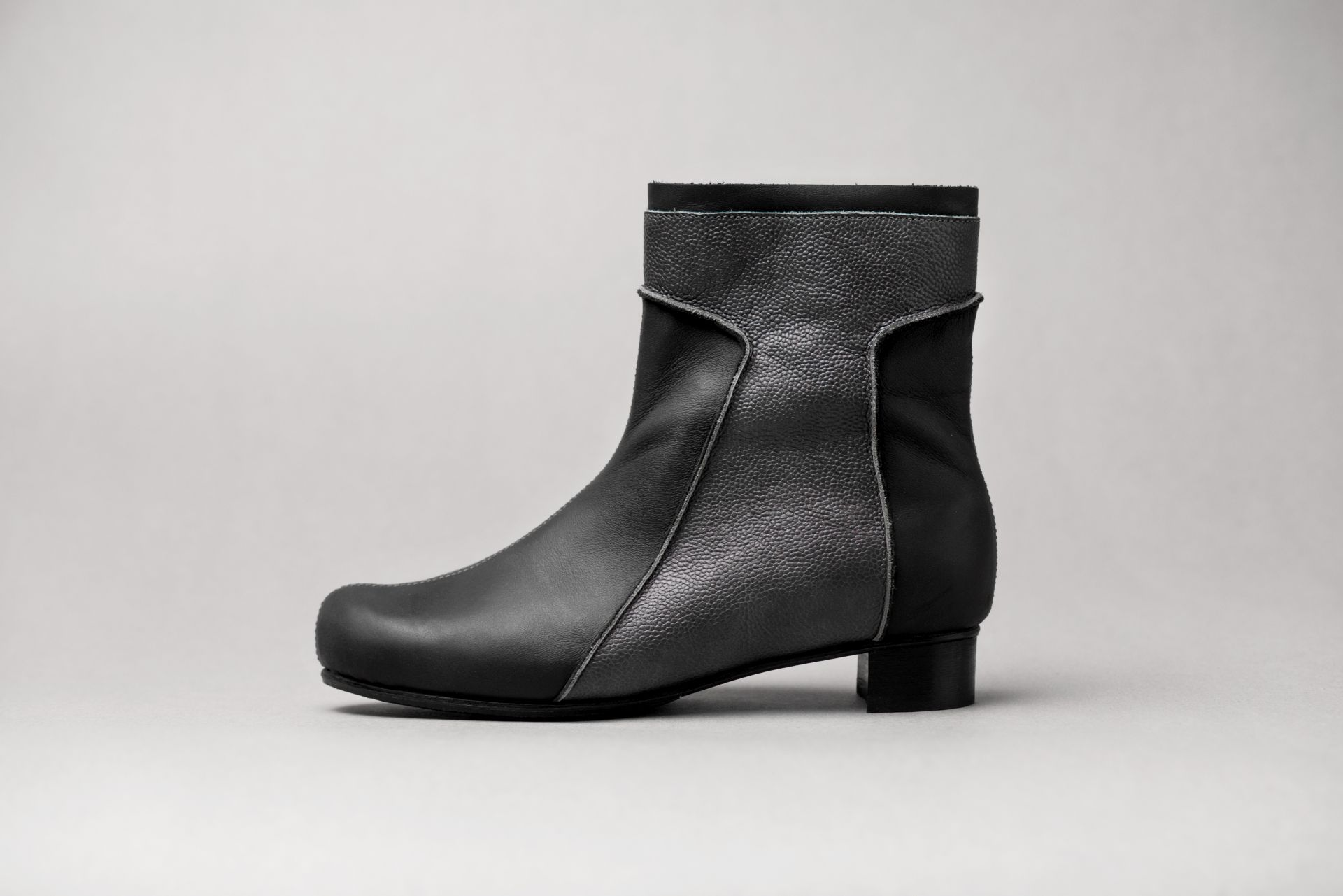 June9Shoes-Alma Grey ankle boots