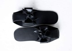 Leather slippers with rubber soles by June9Concept