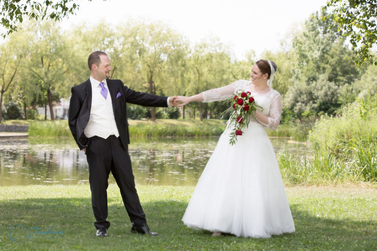 Hochzeitshooting am Weiher, Zorneding