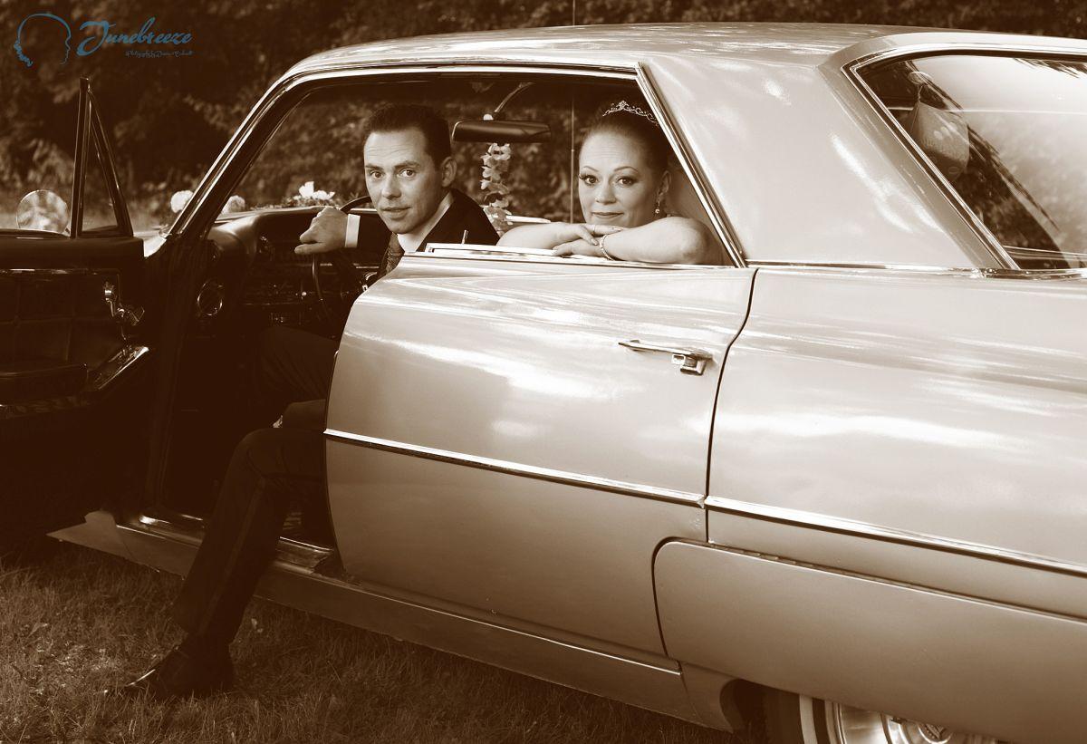 Cadillac Hochzeitsshooting in München